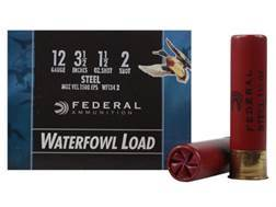"Federal Speed-Shok Waterfowl Ammunition 12 Gauge 3-1/2"" 1-1/2 oz #2 Non-Toxic Steel Shot"
