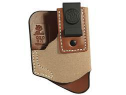 DeSantis Pop Up Inside The Waistband Holster S&W Bodyguard 380, Sig P238; Colt pony, Mustang 380 Leather Tan