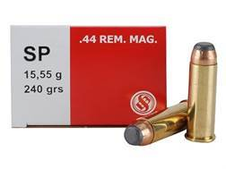 Sellier & Bellot Ammunition 44 Remington Magnum 240 Grain Soft Point Box of 50