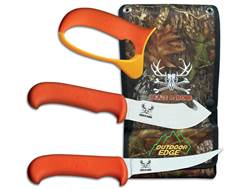 Outdoor Edge Blaze N' Bone Fixed Blade Gut Hook and Boning Knife 4 Piece Combo