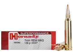 Hornady Superformance GMX Ammunition 7mm Remington Magnum 139 Grain GMX Boat Tail Lead-Free Box of 20