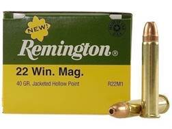 Remington Ammunition 22 Winchester Magnum Rimfire (WMR) 40 Grain Jacketed Hollow Point