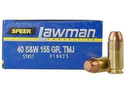 Speer Lawman Ammunition 40 S&W 155 Grain Total Metal Jacket Box of 50