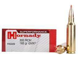 Hornady SUPERFORMANCE GMX Ammunition 300 Ruger Compact Magnum (RCM) 165 Grain Gilding Metal Expanding Boat Tail Lead-Free Box of 20
