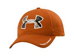 Under Armour Caliber Cap Polyester Rodeo Orange and Mossy Oak Treestand