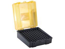 Plano Ammo Box 44 Special, 44 Remington Magnum, 45 Colt 100-Round Plastic Dark Gray and Clear Amber
