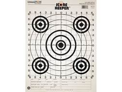 "Champion Score Keeper 100 Yard Sight-In Rifle Targets 14"" x 18"" Paper Black Bull Package of 12"