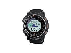 Casio Pro Trek Atomic Triple Sensor Solar Watch Resin Band Black