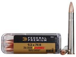 Federal Premium Cape-Shok Ammunition 9.3x74mm Rimmed 286 Grain Barnes Triple-Shock X Bullet Box of 20
