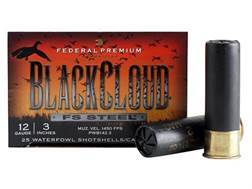 "Federal Premium Black Cloud Ammunition 12 Gauge 3"" 1-1/4 oz #2 Non-Toxic FlightStopper Steel Shot"