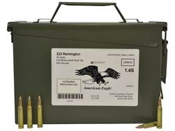 Federal American Eagle Ammunition 223 Remington 55 Grain Full Metal Jacket Boat Tail Ammo Can of ...