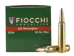 Fiocchi Shooting Dynamics Ammunition 223 Remington 55 Grain Full Metal Jacket Case of 1000 (20 Boxes of 50)