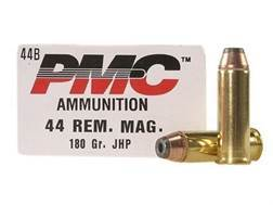 PMC Bronze Ammunition 44 Remington Magnum 180 Grain Jacketed Hollow Point Box of 25