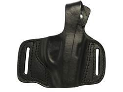 Bulldog Deluxe Molded Holster with Thumb Break Extra Small Fits Mini Autos Right Handed Leather Black