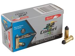 Aguila Colibri Ammunition 22 Long Rifle 20 Grain Solid Point