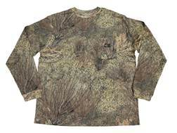 Mossy Oak Men's Pocket T-Shirt Long Sleeve Cotton Mossy Oak Brush Camo XL 46-48