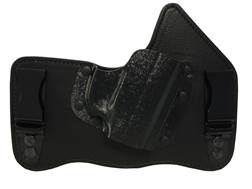 "Galco KingTuk Tuckable Inside the Waistband Holster Right Hand Glock 43, Springfield XDS 3.3"" Leather and Kydex Black"