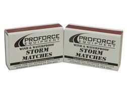 NDUR Windproof & Waterproof Storm Matches Box of 25 2 Pack