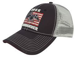 Duck Commander Mesh Flag Cap  Cotton Polyester Blend Navy and White