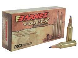 Barnes VOR-TX Ammunition 300 Winchester Short Magnum (WSM) 150 Grain Tipped Triple-Shock X Bullet Boat Tail Lead-Free Box of 20