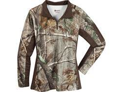 Rocky Women's SilentHunter 1/4 Zip Shirt Long Sleeve Poyester Realtree AP XL