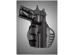 Hogue PowerSpeed Concealed Carry Holster Outside the Waistband (OWB) Right Hand 1911 Officer Polymer Carbon Fiber Weave