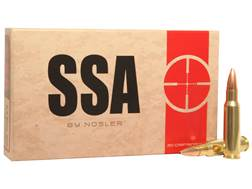 Silver State Armory Ammunition 6.8mm Remington SPC 115 Grain Nosler Custom Competition Hollow Point Boat Tail Box of 20