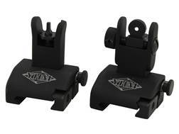 Yankee Hill Machine QDS Quick Deploy Flip up Front and Rear Sight Set Standard AR-15 Flat-Top Aluminum Matte