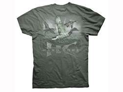 Hard Core Men's Mallard Marsh T-Shirt Short Sleeve Cotton Military Green Large