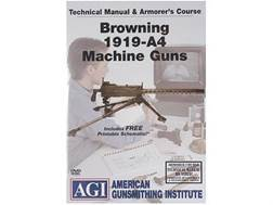 "American Gunsmithing Institute (AGI) Technical Manual & Armorer's Course Video ""Browning 1919-A4"" DVD"