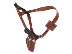 "Galco Great Alaskan Shoulder Holster System Right Hand Colt Python, Cobra, Ruger GP100, Redhawk, S&W L and N Frame, 686, 629 4"" Barrel Leather Tan"