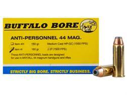 Buffalo Bore Ammunition 44 Remington Magnum 180 Grain Jacketed Hollow Point Anti-Personnel Box of 20