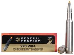 Federal Premium Ammunition 270 Winchester 130 Grain Trophy Bonded Tip Box of 20