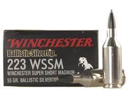 Winchester Supreme Ammunition 223 Winchester Super Short Magnum (WSSM) 55 Grain Ballistic Silvertip