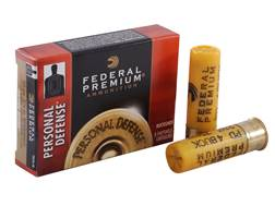 "Federal Premium Personal Defense Ammunition 20 Gauge 2-3/4"" #4 Buckshot Shot 24 Pellets Box of 5"