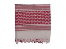 Voodoo Tactical Woven Coalition Desert Scarf Cotton White and Red