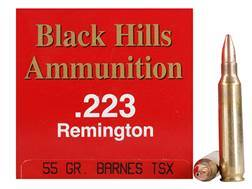 Black Hills Ammunition 223 Remington 55 Grain Barnes Triple-Shock X Bullet Hollow Point Lead-Free Box of 50
