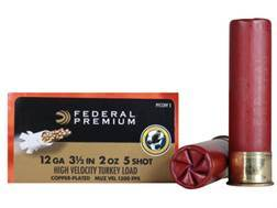 "Federal Premium Mag-Shok Turkey Ammunition 12 Gauge 3-1/2"" 2 oz #5 Copper Plated Shot High Velocity Box of 10"