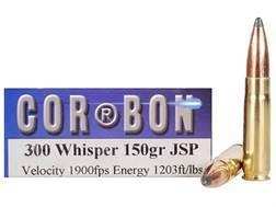 Cor-Bon Hunter Ammunition 300 Whisper 150 Grain Jacketed Soft Point Box of 20