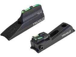TRUGLO TFO Muzzle Bright Xtreme Muzzleloader Universal Sight Set Tritium / Fiber Optic Standard Front, Notched Rear Green