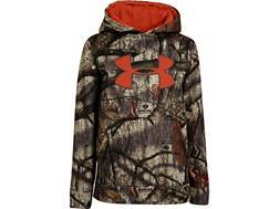 Under Armour Youth Camo Big Logo Hooded Sweatshirt Polyester Blaze Orange