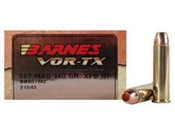 Barnes VOR-TX Ammunition 357 Magnum 140 Grain XPB Hollow Point Lead-Free Box of 20