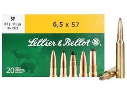 Sellier & Bellot Ammunition 6.5x57mm Mauser 131 Grain Soft Point Box of 20