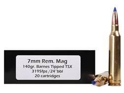 Doubletap Ammunition 7mm Remington Magnum 140 Grain Barnes Tipped Triple-Shock X Bullet Lead-Free Box of 20