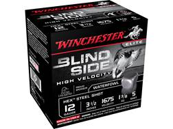 "Winchester Blind Side High Velocity Ammunition 12 Gauge 3-1/2"" 1-3/8 oz #5 Non-Toxic Steel Shot"