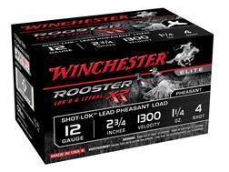 "Winchester Rooster XR Pheasant Ammunition 12 Gauge 2-3/4"" 1-1/4 oz #4 Copper Plated Shot"