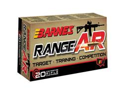Barnes RangeAR Ammunition 5.56x45mm NATO 52 Grain Open-Tip Match (OTM) Box of 20