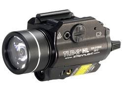 Streamlight TLR-2 HL Weaponlight LED with Laser and 2 CR123A Batteries Fits Picatinny or Glock-Style