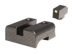 BattleHook Sight Set Glock 17, 19, 22, 23, 24, 26, 27, 33, 34, 35, 37, 38, 39 Fiber Optic Front Steel Black
