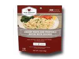 Wise Food Outdoor Creamy Pasta & Vegetables with Chicken Freeze Dried Food 5 oz